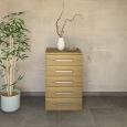 Schmale Schubladenkommode Massivholz  Kernbuche