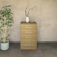 Schmale Schubladenkommode Massivholz  Wildeiche