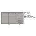 LINO Sideboard aus Echtholz 180 cm Wildeiche