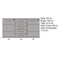 Esszimmer Sideboard Massivholz 180 cm