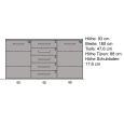 Esszimmer Sideboard Massivholz 180 cm Kernbuche