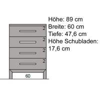 Kleine Massivholz Kommode LINO  Kernbuche