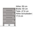 Kleine Massivholz Kommode LINO  Eiche
