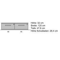 Moderner TV Unterschrank 120 cm  Kernbuche