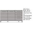 Schlichtes Massivholz Sideboard 180 cm  Buche