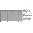 Schlichtes Massivholz Sideboard 180 cm  Eiche