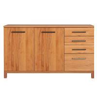 Schlichtes Massivholz Sideboard 180 cm  Nussbaum
