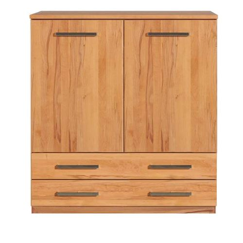 Schlafzimmer Highboard mit Schubladen LINO Massivholz - Flachsockel Eiche