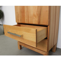Schmales LINO Highboard Holz Eiche