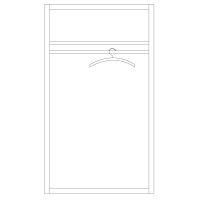 Zweitüriger Kleiderschrank LINO Massivholz Wildeiche weiß geölt
