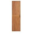 Eintüriger Kleiderschrank Massivholz LINO Wildeiche weiß geölt