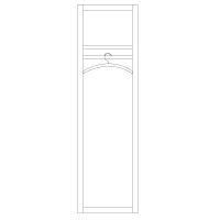 Exklusiver Kleiderschrank mit Stange Holz LINO Wildeiche weiß geölt