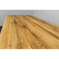 Baumkanten Esstisch aus massiver Wildeiche 160 x 90 cm
