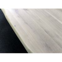 Esszimmertisch Baumkante Eiche White Wash mit X Fuß 180 x 90 cm