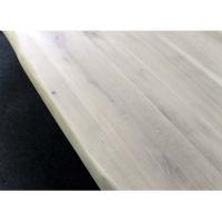 Esszimmertisch Baumkante Eiche White Wash mit X Fuß 220 x 100 cm