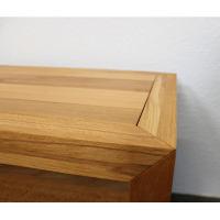 Großer Nachttisch Massivholz LINO mit Schublade Kernbuche