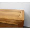 Großer Nachttisch Massivholz LINO mit Schublade Eiche