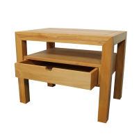 Großer Nachttisch Massivholz LINO mit Schublade Nussbaum