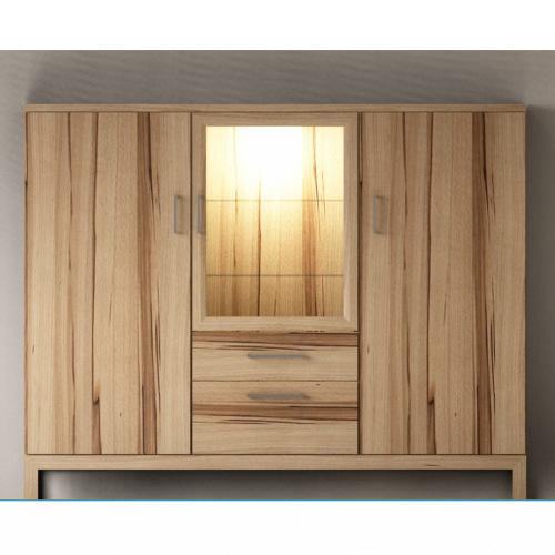 Modernes Wohnzimmer Highboard aus Massivholz Kernbuche
