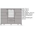 Modernes Wohnzimmer Highboard aus Massivholz Eiche