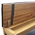 Bankauflage für Sitzbank ohne Rückenlehne  100 cm Leder