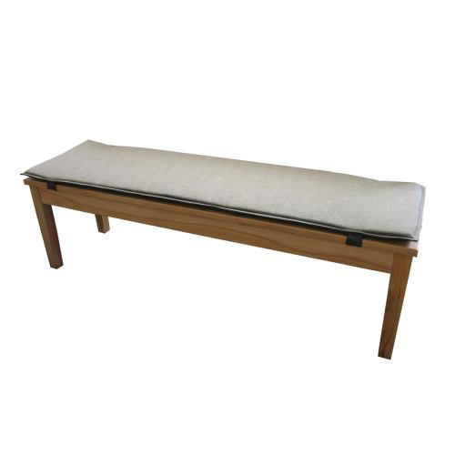 Bankauflage für Sitzbank ohne Rückenlehne  160 cm Microfaser