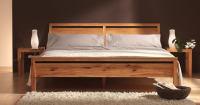 Hochwertiges Kernbuche Bett 180x200 cm LINO Massivholz