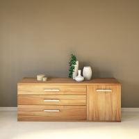 LINO Sideboard 180 cm mit 3 Schubladen Massivholz
