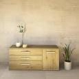 LINO Sideboard 150 cm mit 3 Schubladen Massivholz