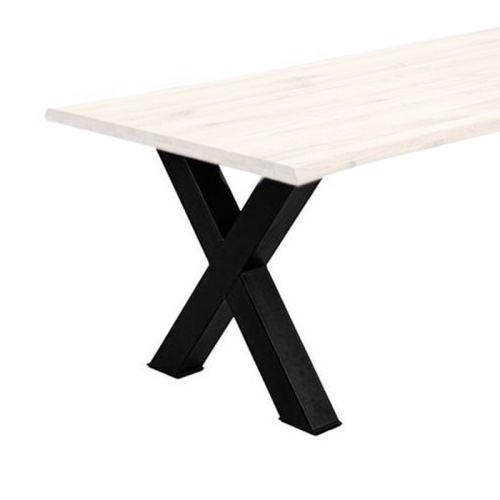 Tischgestell X Fuß pulverlackiert schwarz (Set=2 Sück)