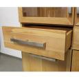 Holz Vitrine mit Flachsockel und Glastür LINO