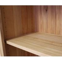 Hohes Lino Regal aus Massivholz mit Rückwand Wildeiche weiß geölt