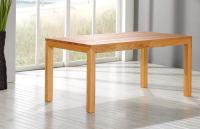 Esstisch LINO Massivholz Wildeiche weiß geölt 120 x 90 cm