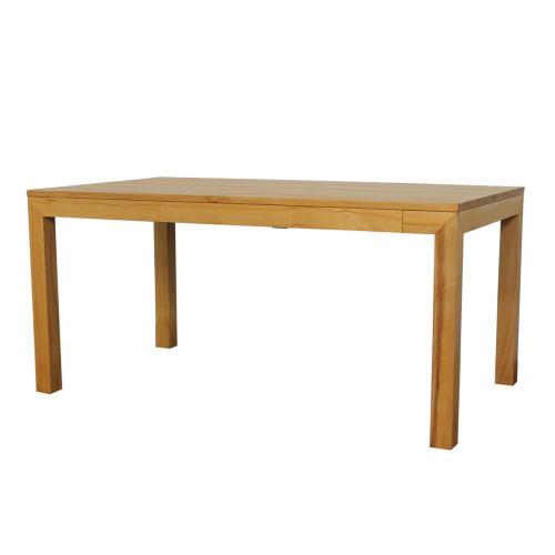Esstisch LINO Massivholz mit Gestellauszug - 90cm Breite Eiche 160 x 90 cm 100 x 90 cm