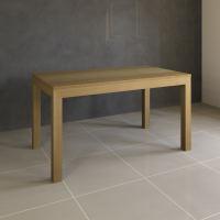 Esstisch Massivholz LINO mit 2 Schubkasten 80 cm