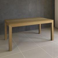 Esstisch Massivholz LINO mit 2 Schubkasten 90 cm