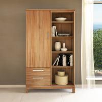 Massivholz Bücherschrank mit Regal rechts