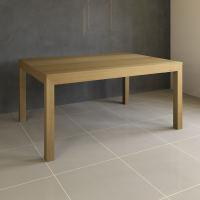Esstisch Massivholz LINO mit 2 Schubkasten 110 cm