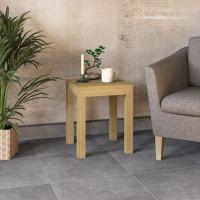 Beitstelltisch Lino mit Holzplatte - 40x40cm