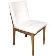 Stuhl mit Polstersitz und Polsterrücken Eiche hell geölt Stoff