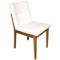 Stuhl mit Polstersitz und Polsterrücken Kernbuche geölt Stoff