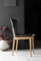 Stuhl mit Polstersitz und Polsterrücken Eiche Leder