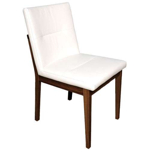 Stuhl mit Polstersitz und Polsterrücken Nussbaum geölt Stoff
