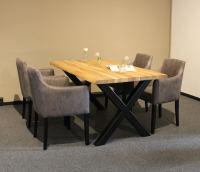 Esstisch Baumkante mit Stühlen 160x90 cm