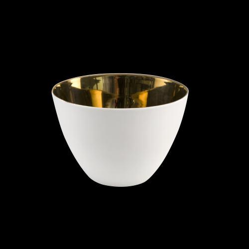 Porzellan Windlicht, Goldbedampft - 6 Stück