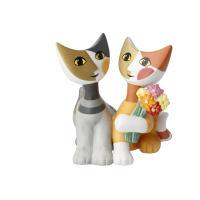 Figur Rosina Wachtmeister - Katzen Mazzo di fiori