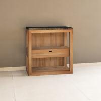 Massivholz Regal-Küchenmodul