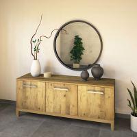 Wohnzimmer Sideboard 180 cm Massivholz Wildeiche