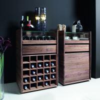 Massivholz-Schränkchen Set mit Flaschenregal