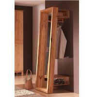 Massivholz Spiegel-Garderobe - 180 cm